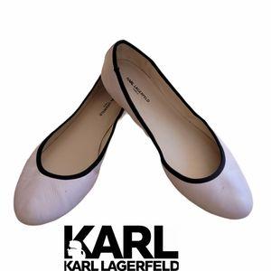 KARL LAGERFELD ballerina slip on shoes